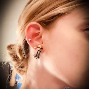David Yurman Rhodolite Garnet Earrings